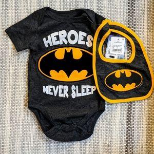 NEW Batman Baby Onesie Set